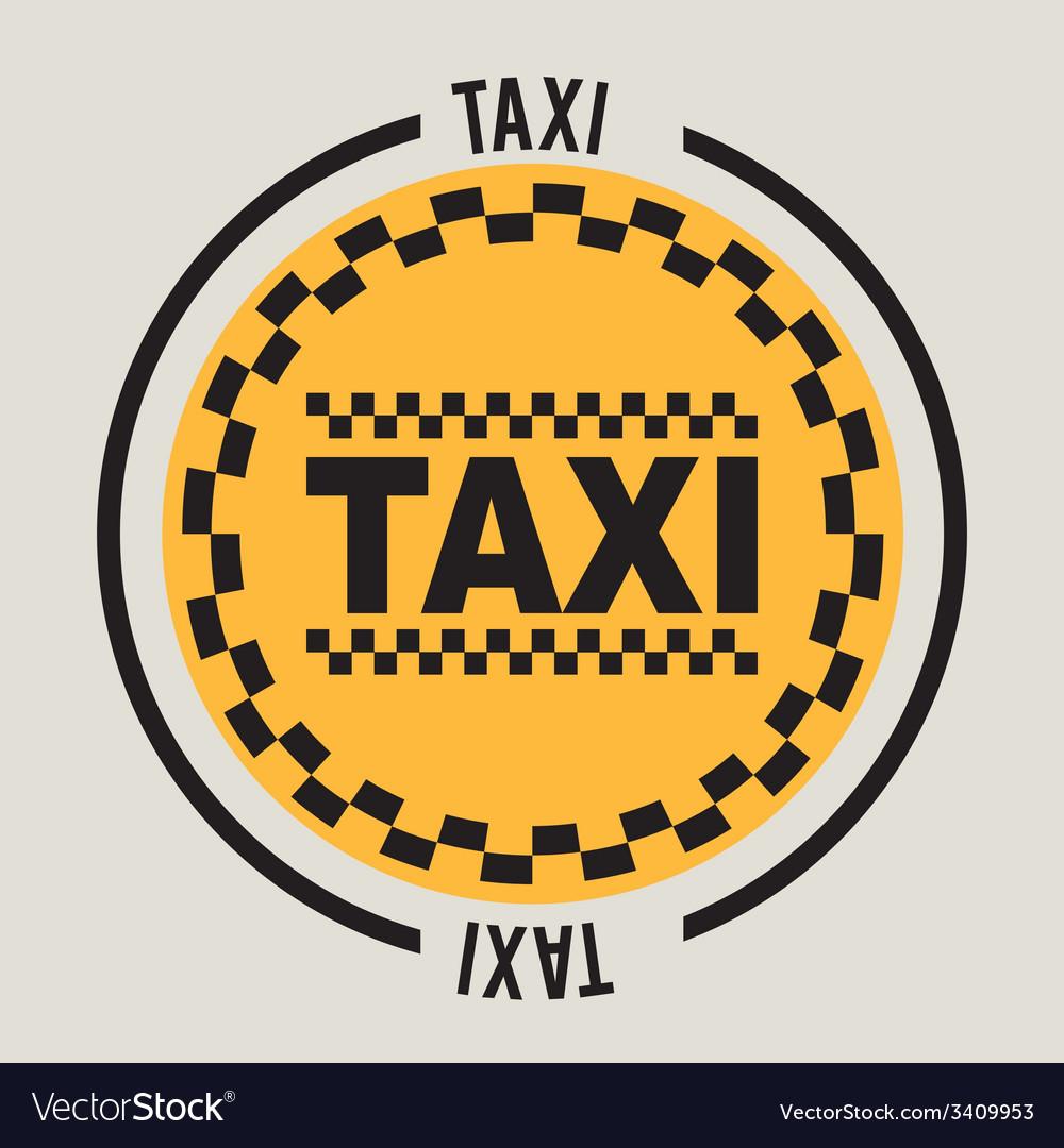 Taxi service design vector | Price: 1 Credit (USD $1)
