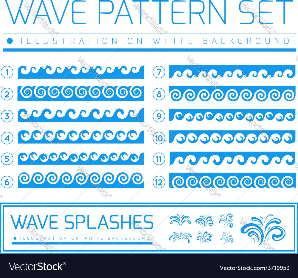 Waves and splashes vector | Price: 1 Credit (USD $1)