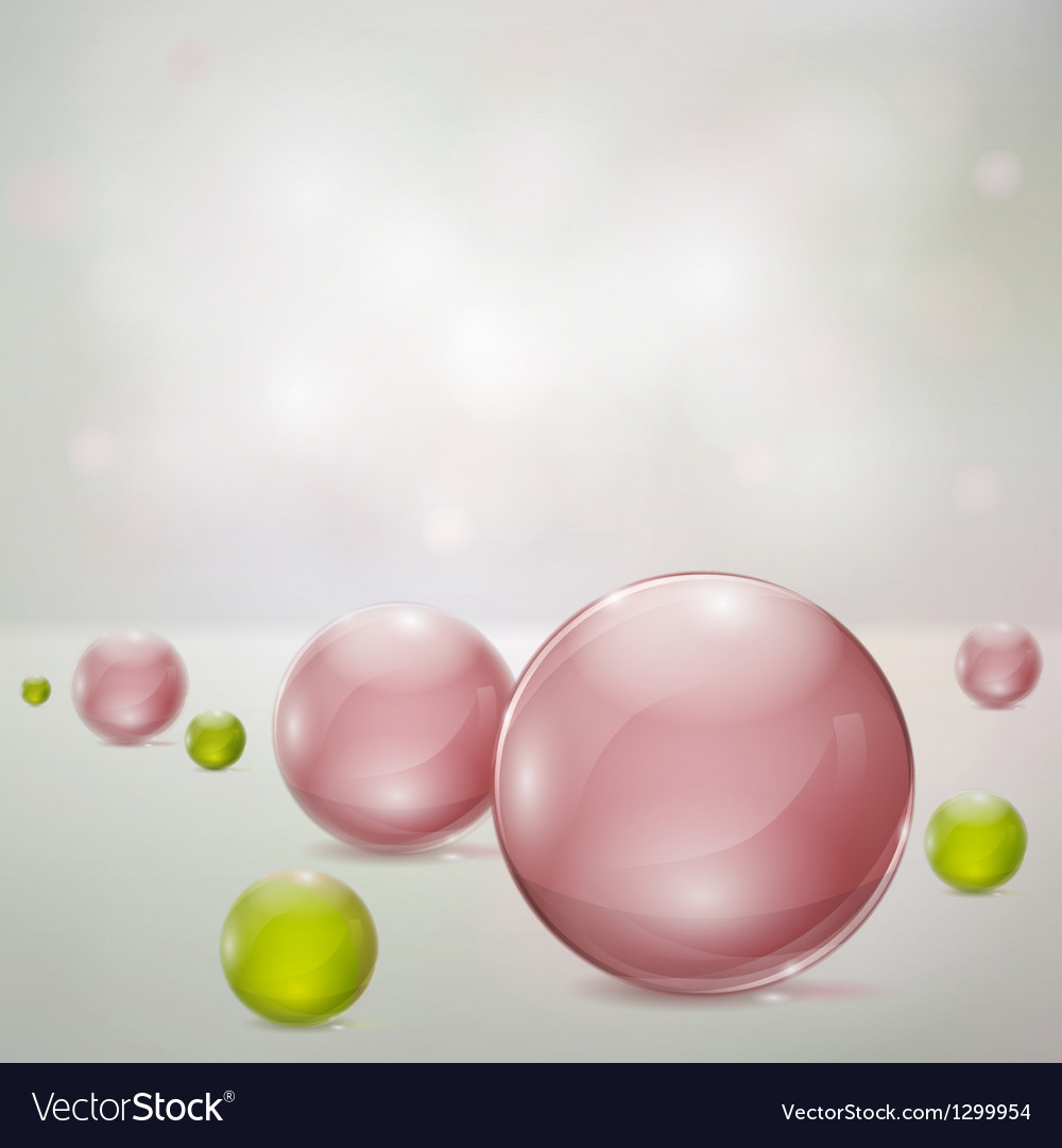 Abstract background with glass spheres vector | Price: 1 Credit (USD $1)