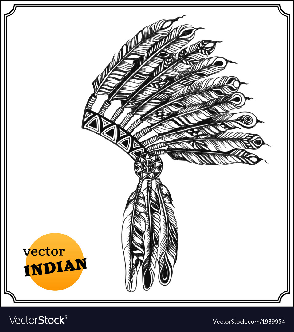 American indian chief headdress vector | Price: 1 Credit (USD $1)