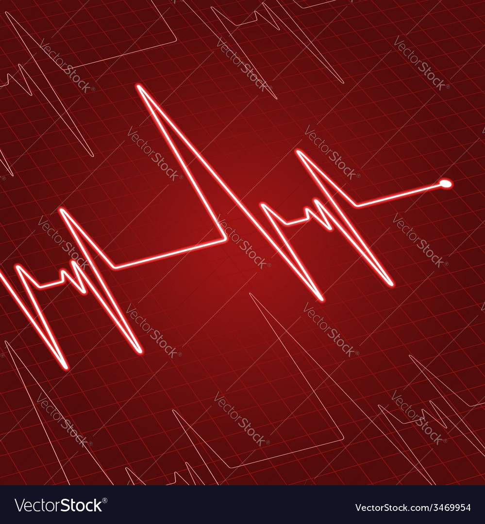 Close up heartbeat on screen vector | Price: 1 Credit (USD $1)