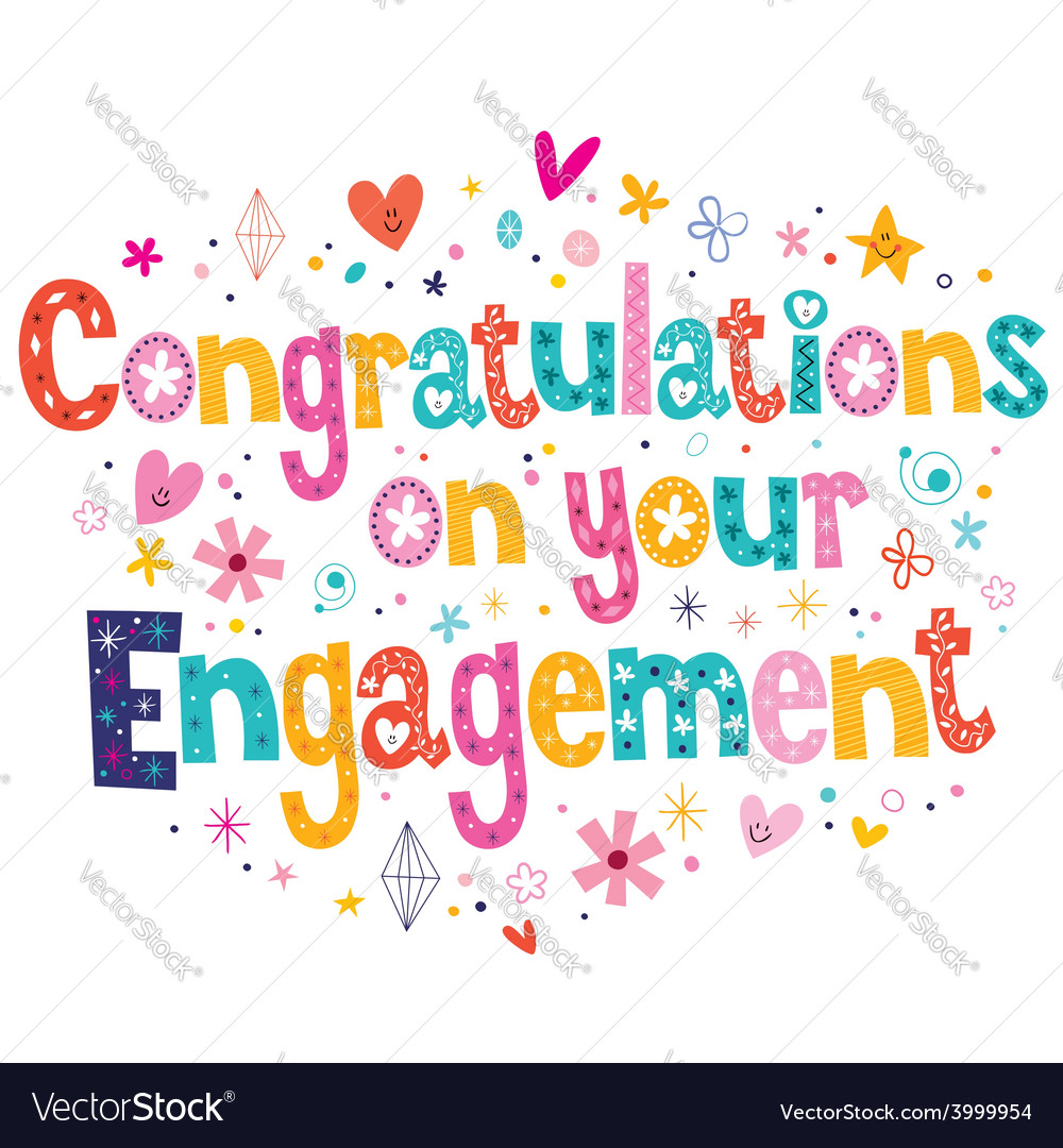 Congratulations on your engagement card vector | Price: 1 Credit (USD $1)