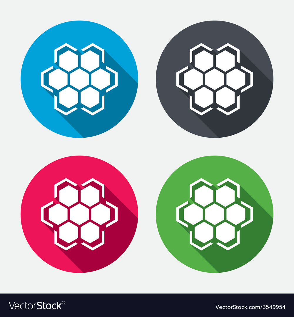 Honeycomb sign icon honey cells symbol vector | Price: 1 Credit (USD $1)