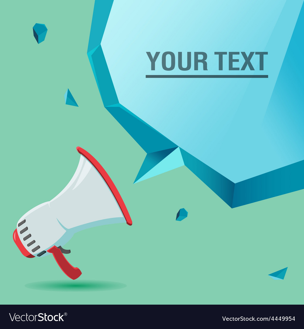 Megaphone voice advertise text bubble vector | Price: 1 Credit (USD $1)