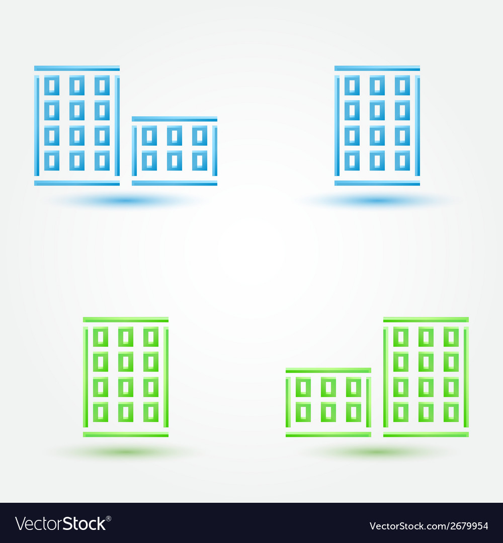 Minimal buildings icons - simple house symbol in vector | Price: 1 Credit (USD $1)