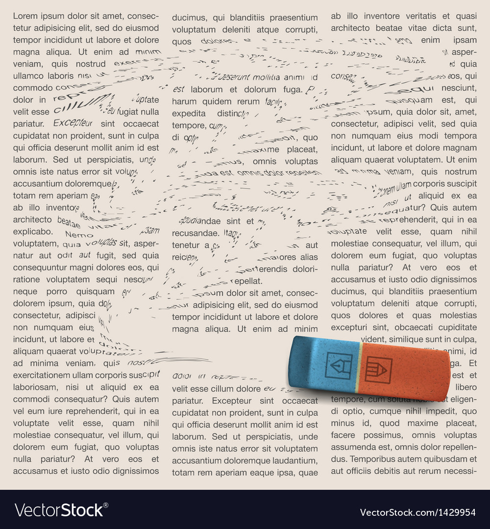 Newspaper page with eraser of erasing news vector | Price: 1 Credit (USD $1)