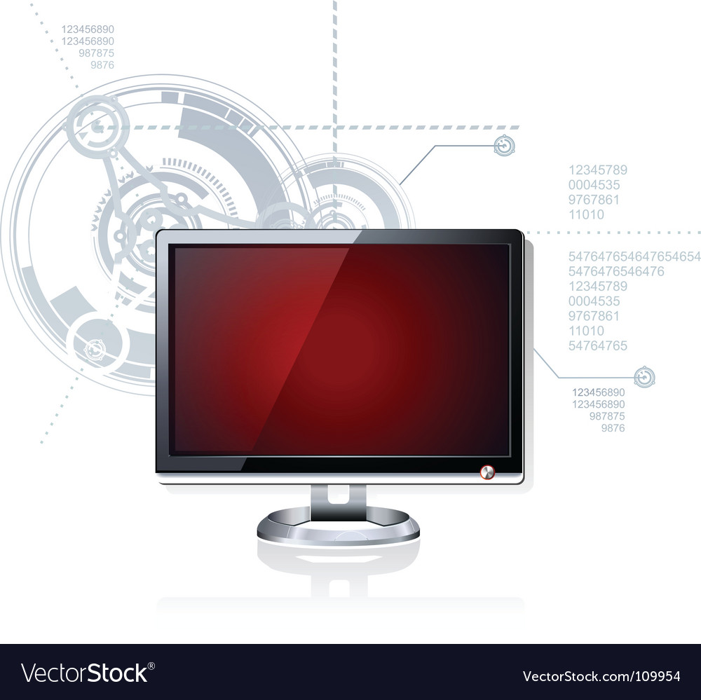 Red monitor vector | Price: 1 Credit (USD $1)