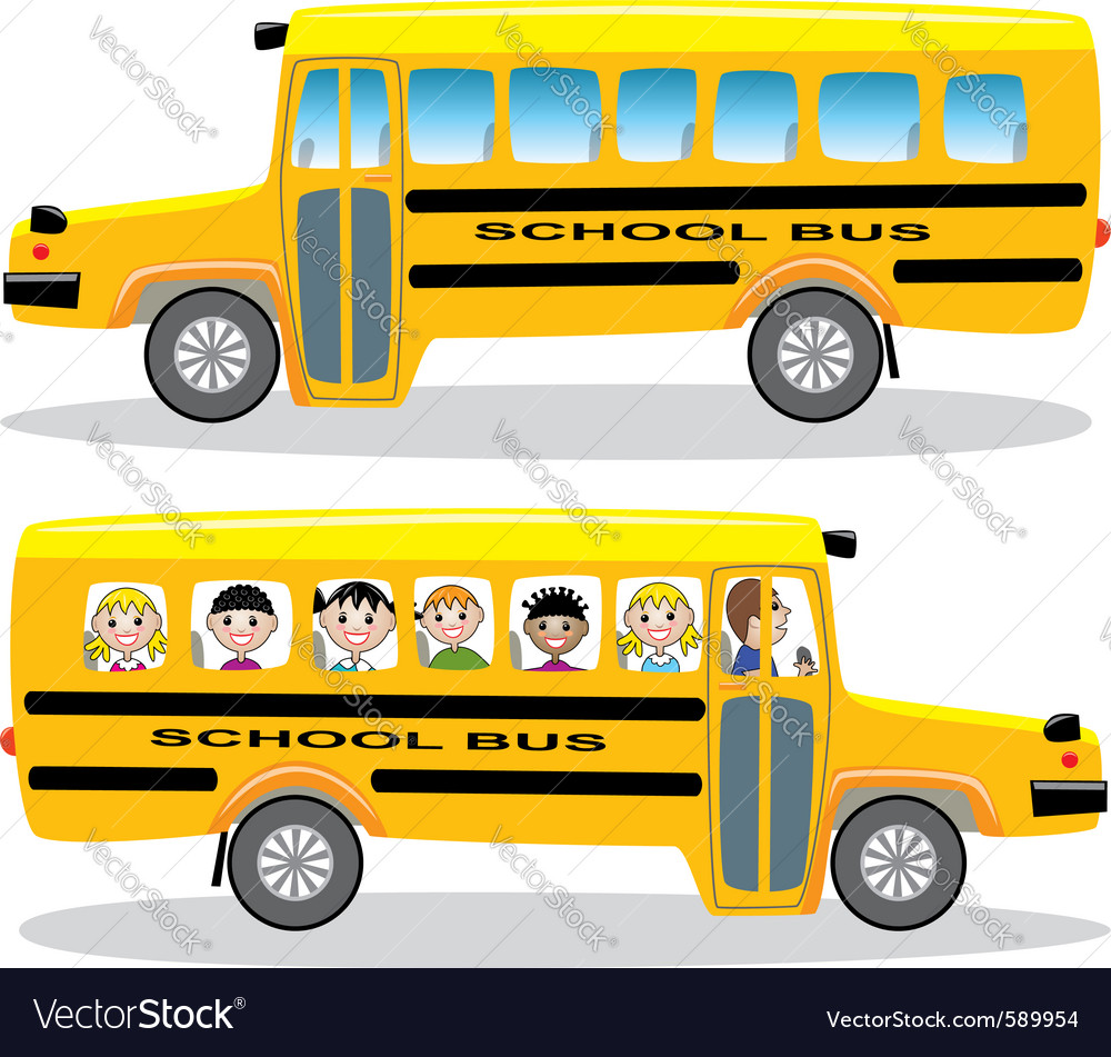 School buses vector | Price: 1 Credit (USD $1)
