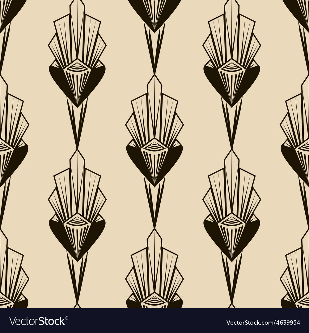 Seamless antique pattern geometric art deco vector | Price: 1 Credit (USD $1)