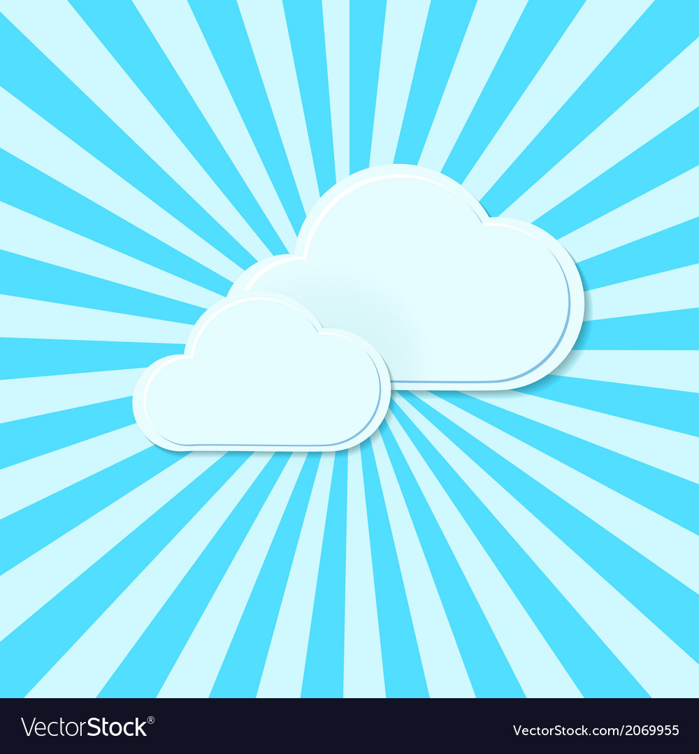 Abstract background stylized clouds vector | Price: 1 Credit (USD $1)