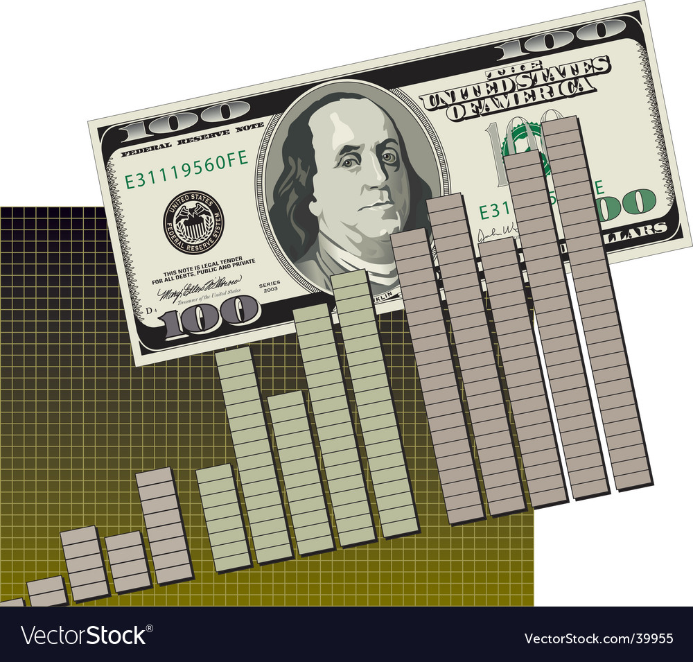Bar graph cash flow vector | Price: 1 Credit (USD $1)