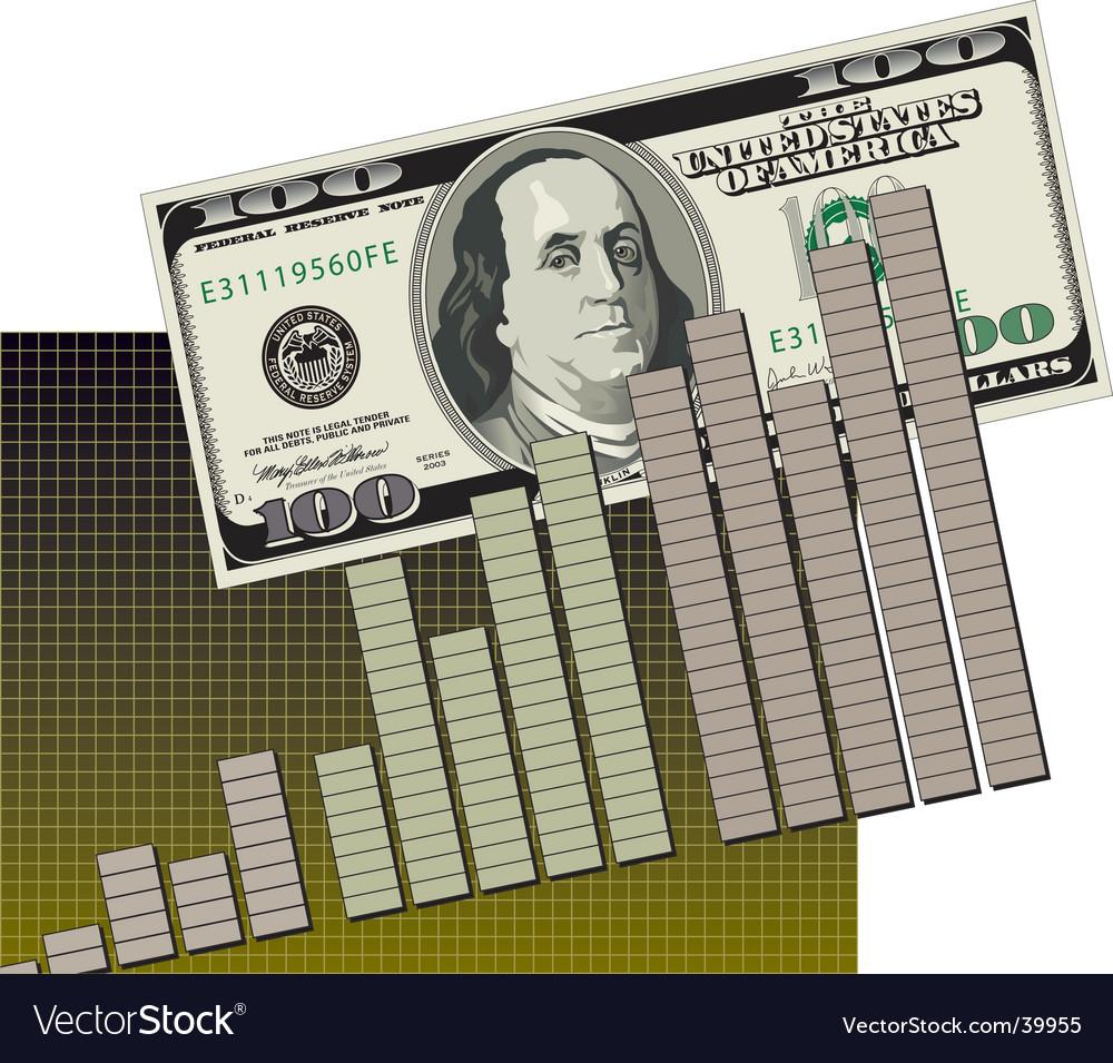 Bar graph cash flow vector | Price: 1 Credit (USD $1)