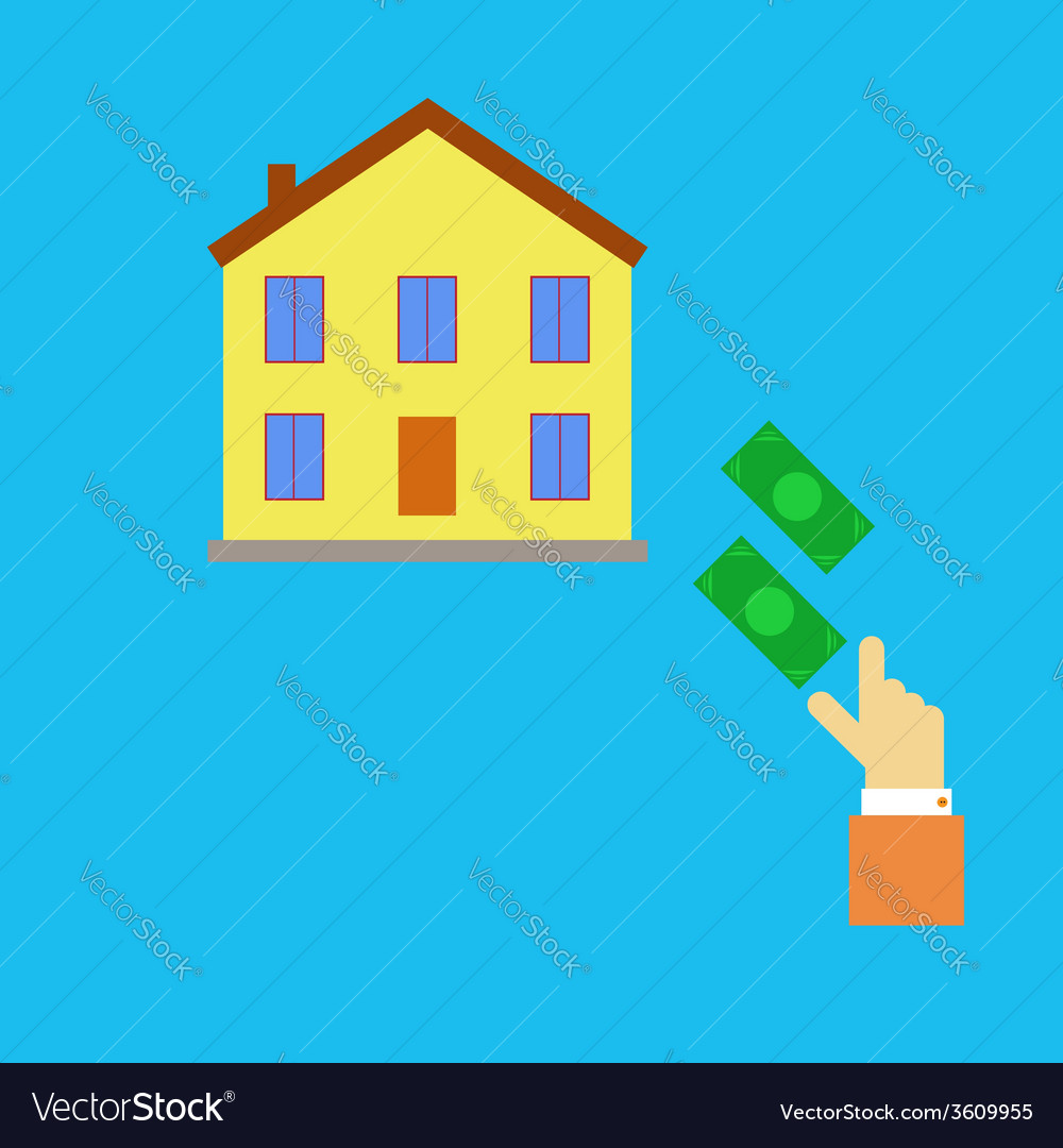 Buying real estate vector | Price: 1 Credit (USD $1)