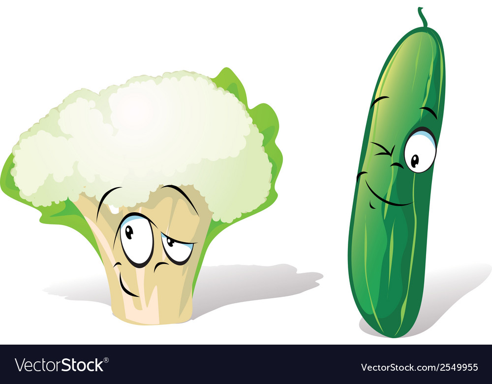 Cucumber and cauliflower vector | Price: 1 Credit (USD $1)