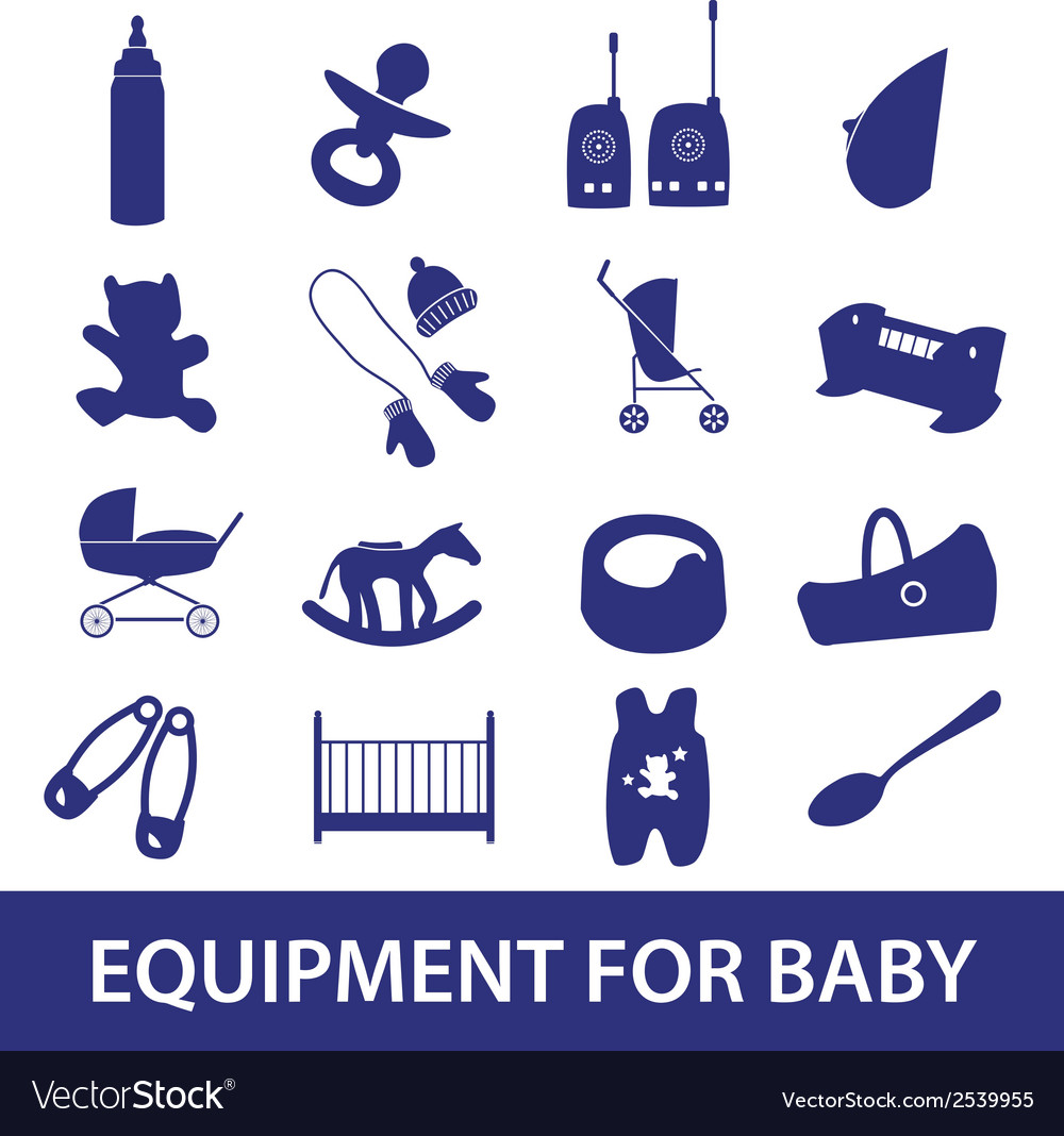 Equipment for baby icon set eps10 vector | Price: 1 Credit (USD $1)
