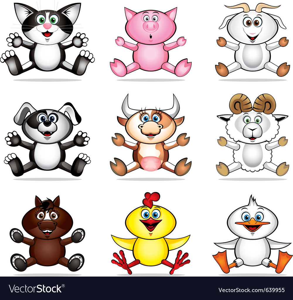Funny pet animals vector | Price: 3 Credit (USD $3)