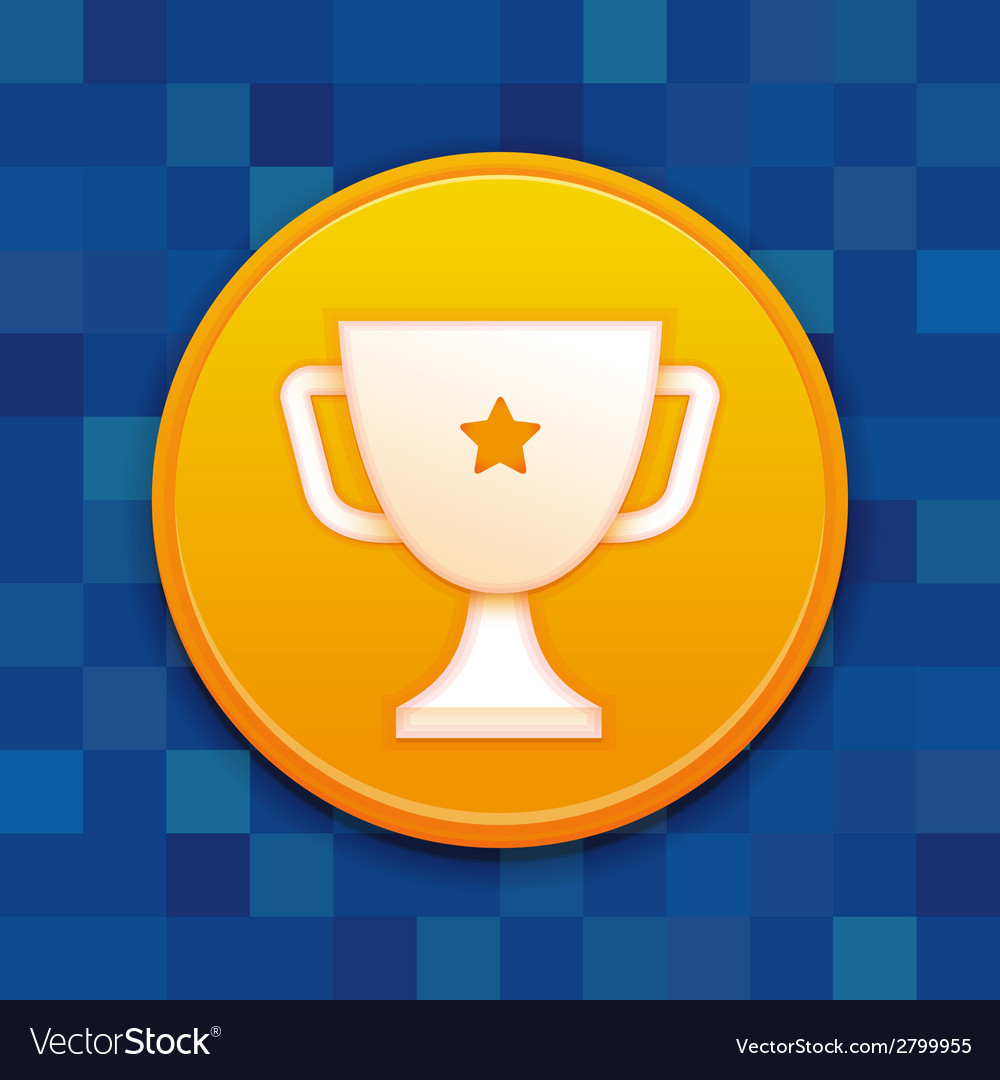 Gamification badge with white cup vector | Price: 1 Credit (USD $1)