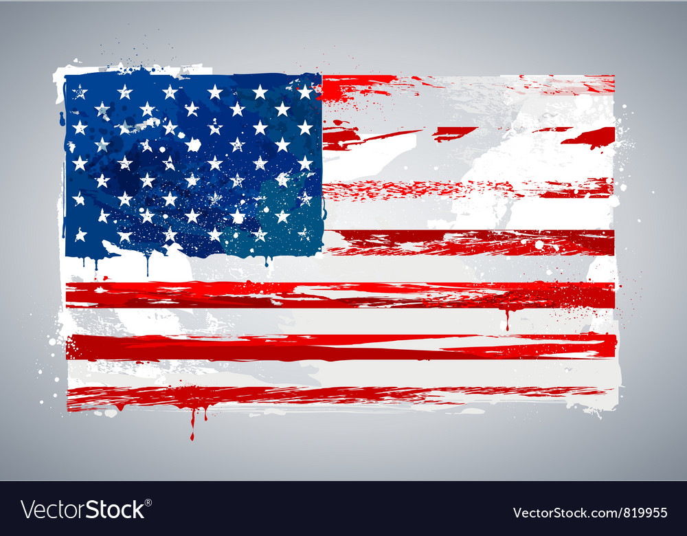 Grunge usa national flag vector | Price: 1 Credit (USD $1)