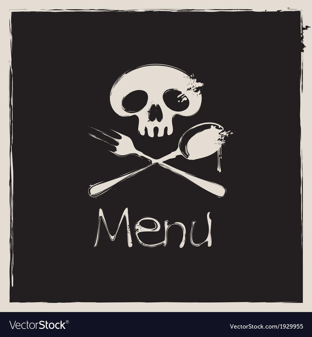 Jolly roger menu vector | Price: 1 Credit (USD $1)