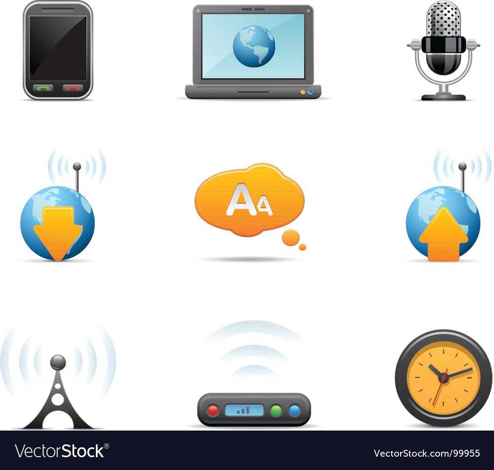 Multi media icons vector | Price: 1 Credit (USD $1)
