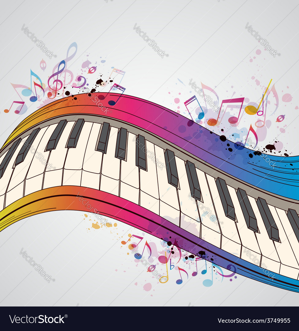 Music bright background with piano vector   Price: 1 Credit (USD $1)