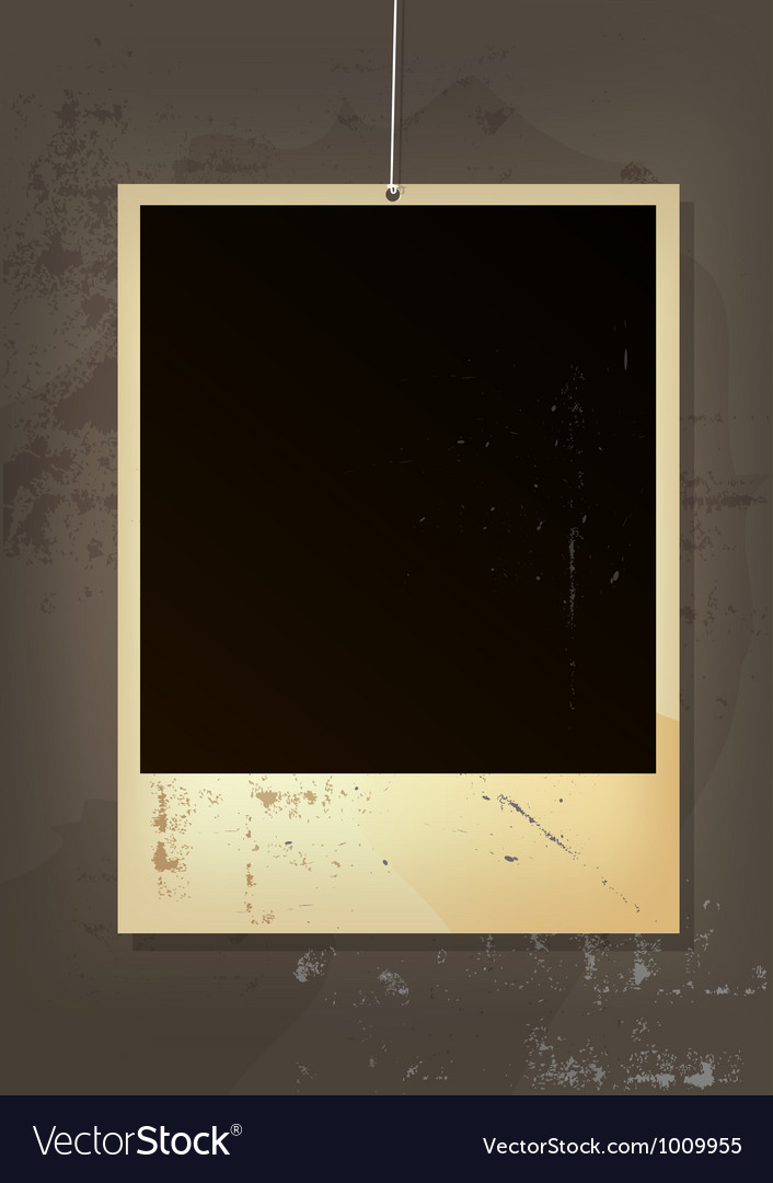 Old picture frame vector | Price: 1 Credit (USD $1)