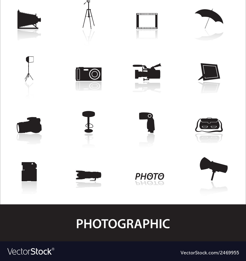 Photographic icons eps10 vector   Price: 1 Credit (USD $1)