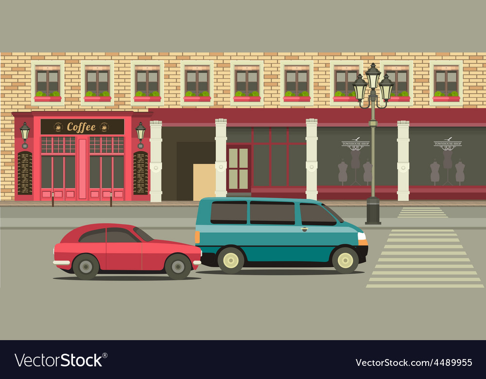 Townhouse shop vector | Price: 3 Credit (USD $3)