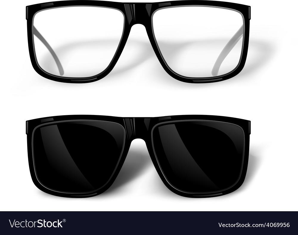 Black glasses vector | Price: 3 Credit (USD $3)
