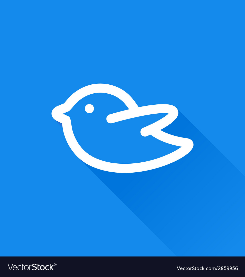 Blue bird social media web icon vector | Price: 1 Credit (USD $1)