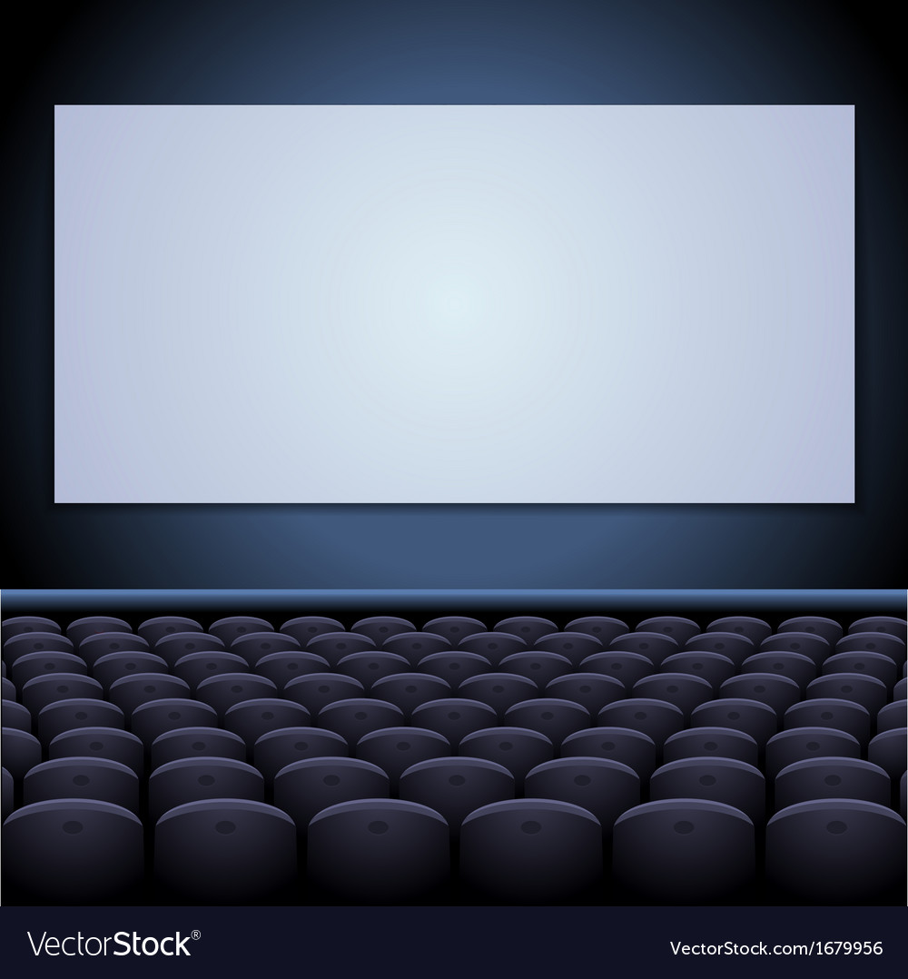 Cinema theatre with screen and seats vector | Price: 1 Credit (USD $1)