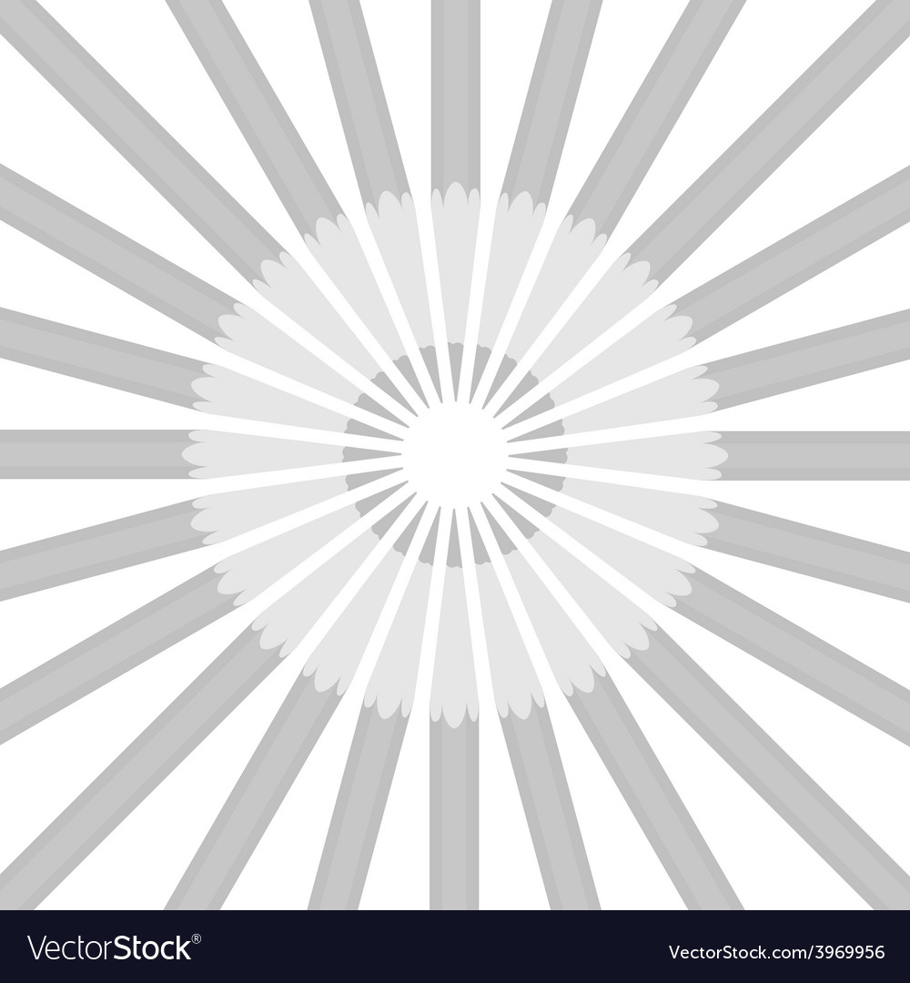 Circle from gray pencils vector | Price: 1 Credit (USD $1)