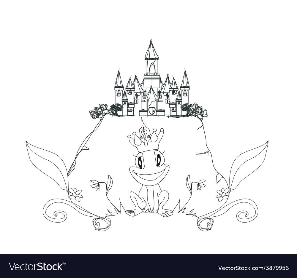 Frog prince cartoon character vector | Price: 1 Credit (USD $1)