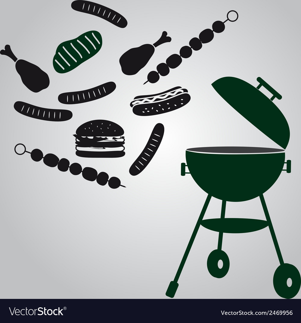 Garden grill eps10 vector | Price: 1 Credit (USD $1)