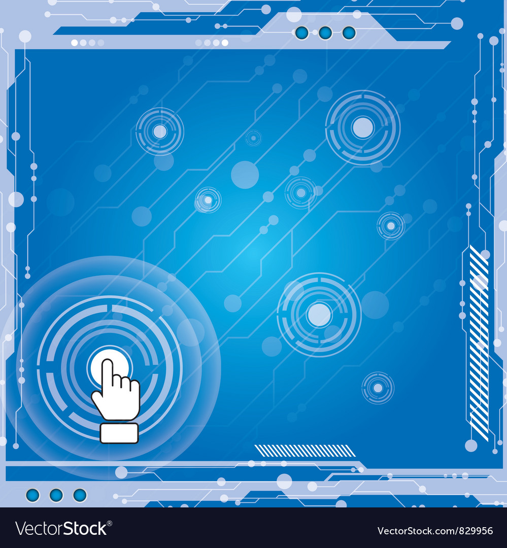 Interface modern technology vector | Price: 1 Credit (USD $1)
