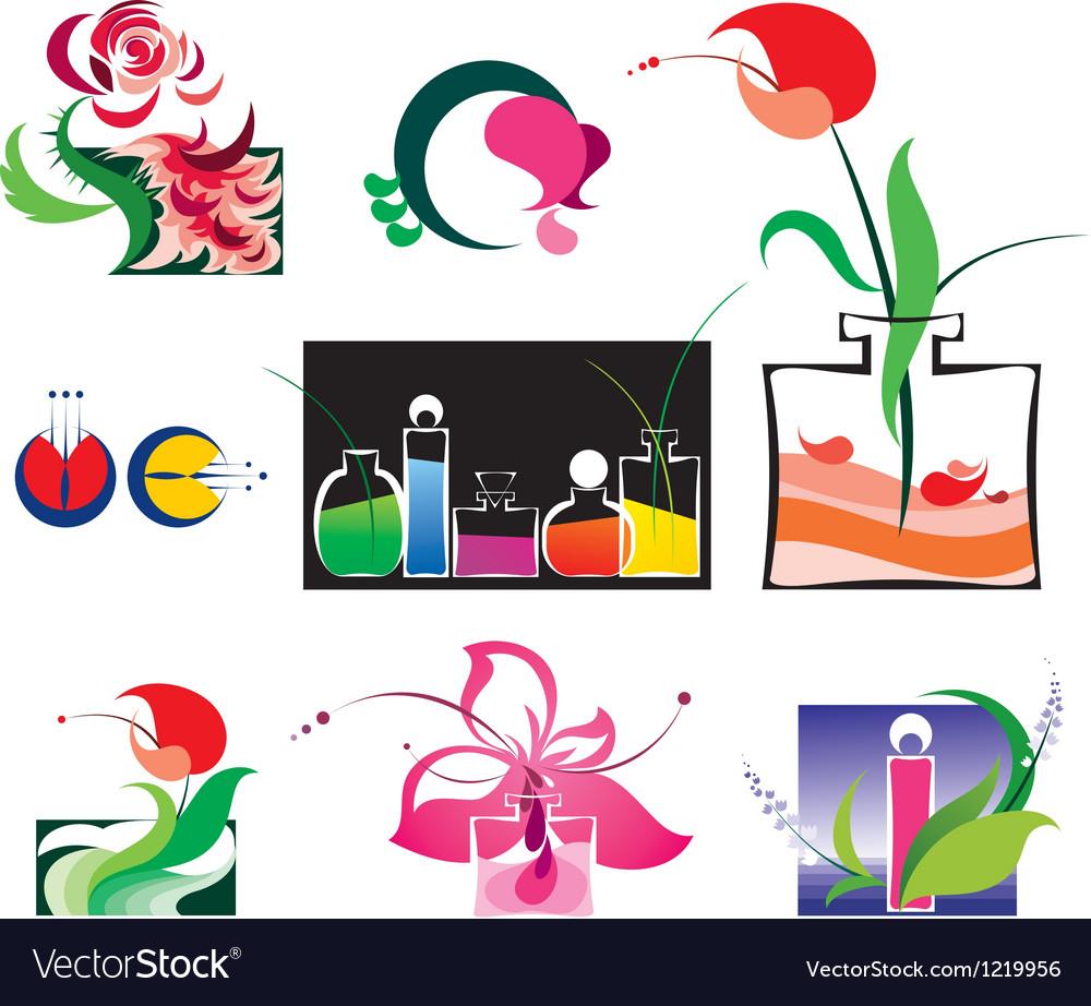 Perfumery set vector | Price: 1 Credit (USD $1)