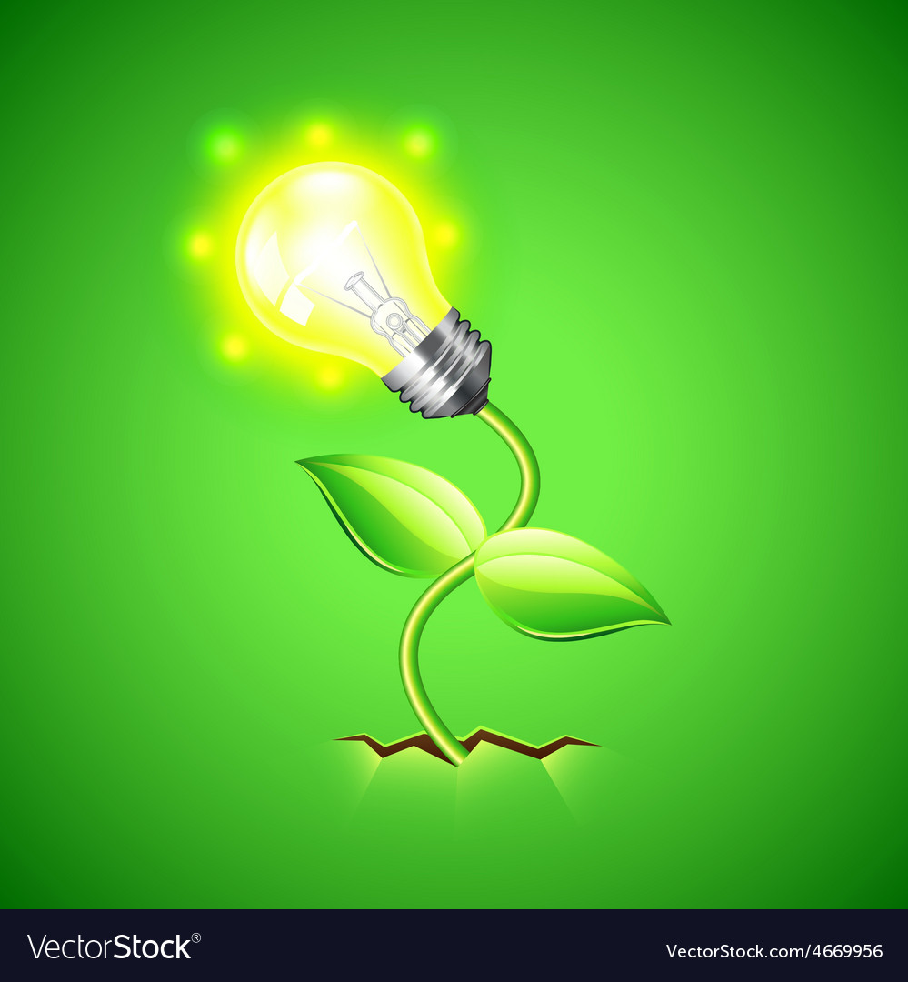 Plant-bulb grows from the ground background vector | Price: 3 Credit (USD $3)