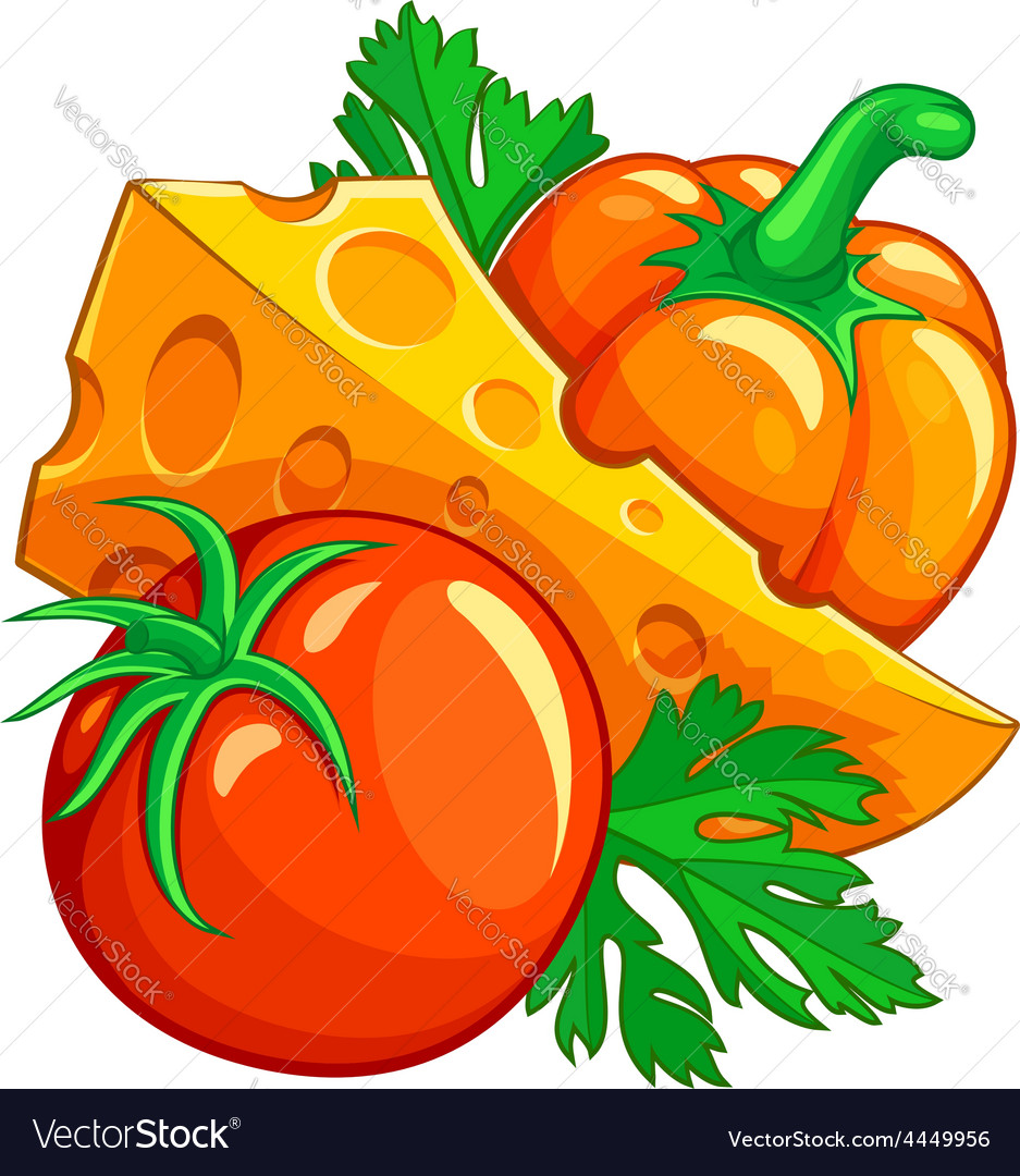 Tomato pepper vegetables and vector | Price: 3 Credit (USD $3)