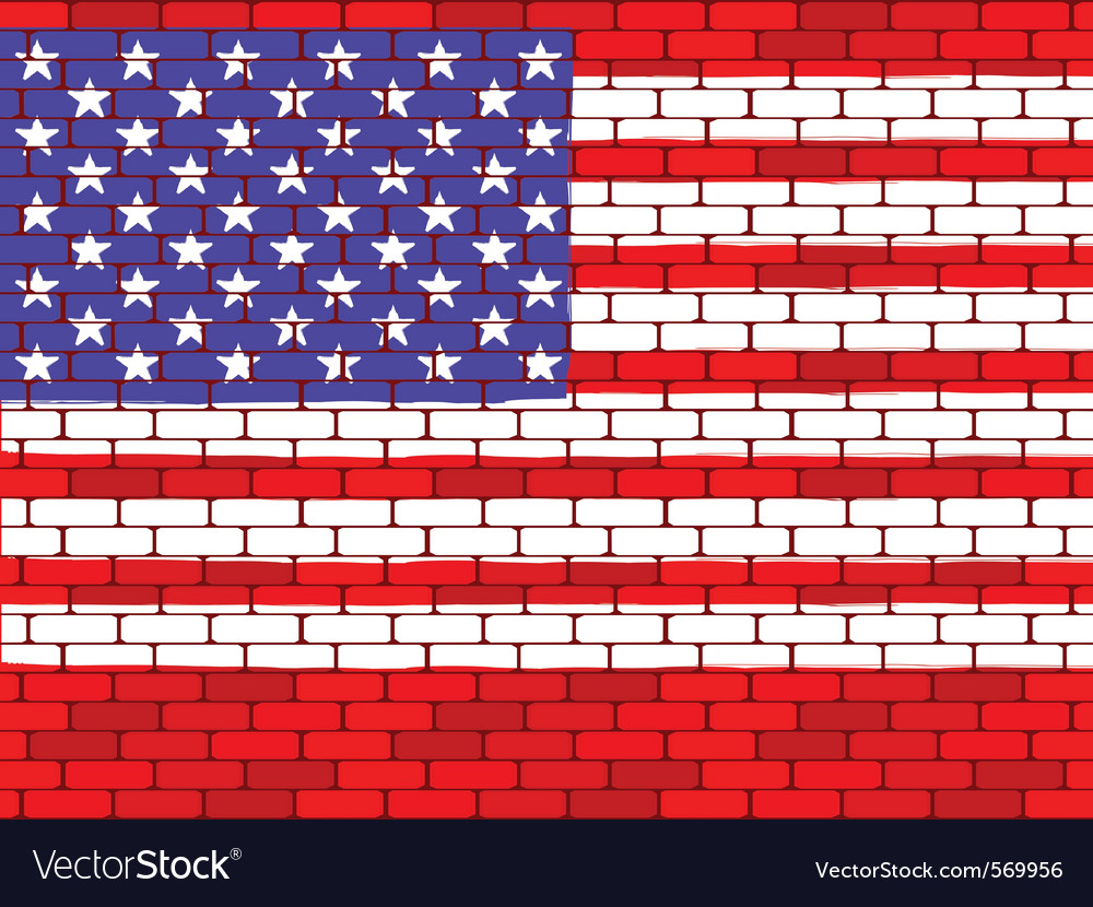 Usa brick wall vector | Price: 1 Credit (USD $1)