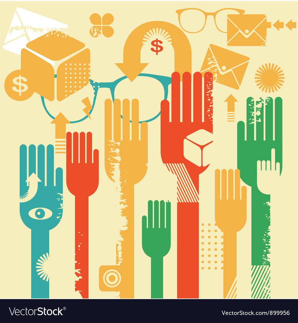 Voting hands vector   Price: 1 Credit (USD $1)
