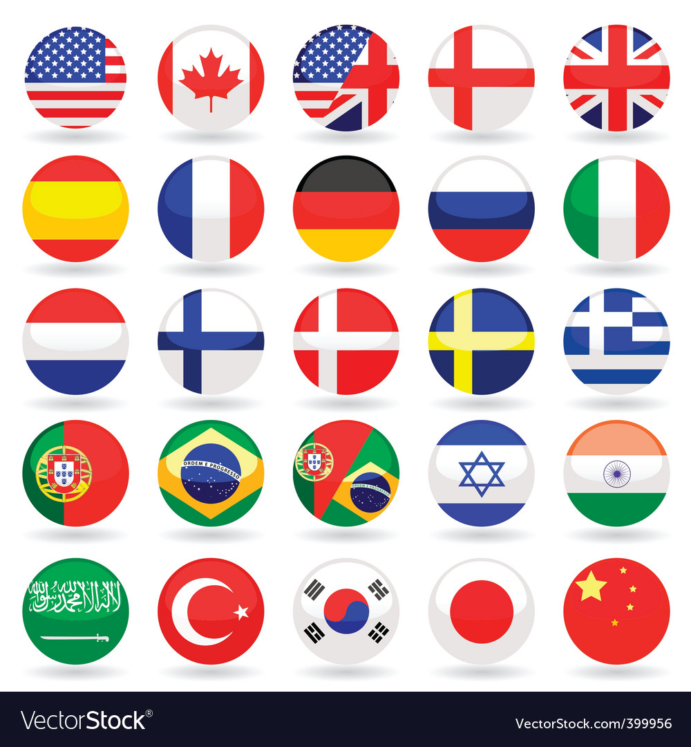 World flags vector | Price: 1 Credit (USD $1)