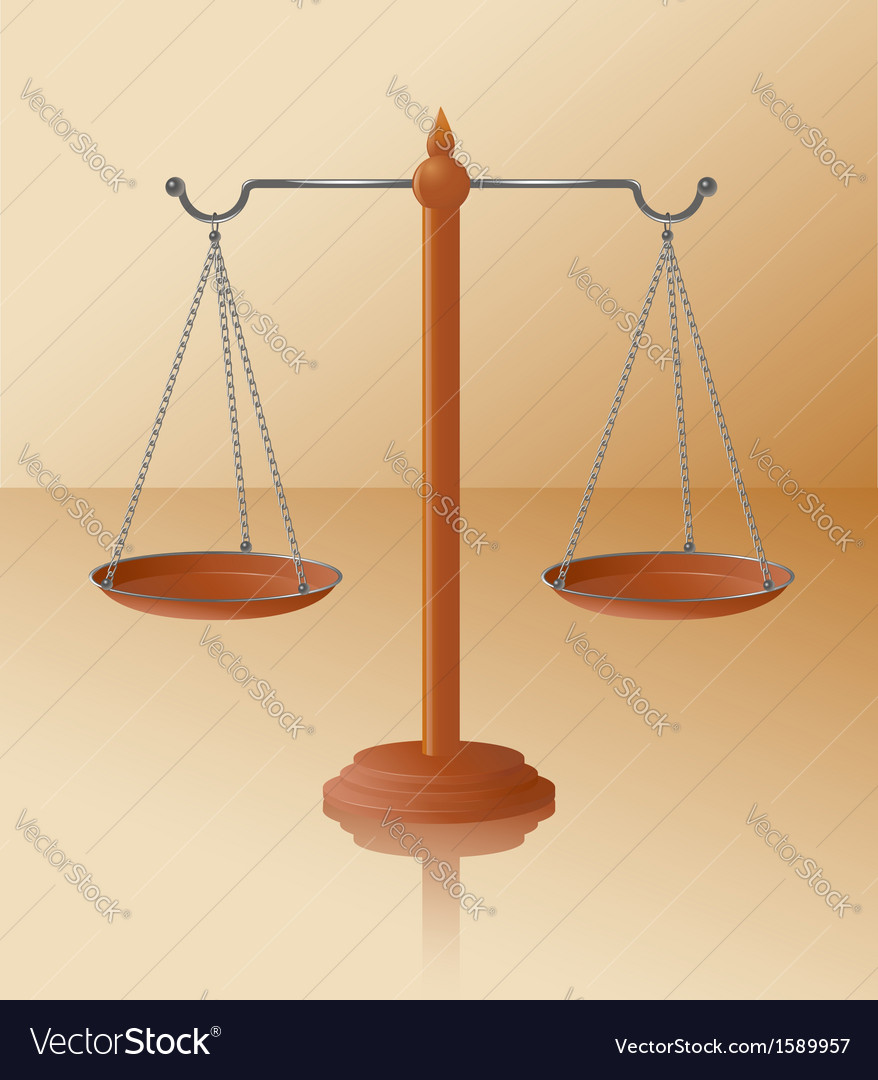 Balance scale vector | Price: 1 Credit (USD $1)