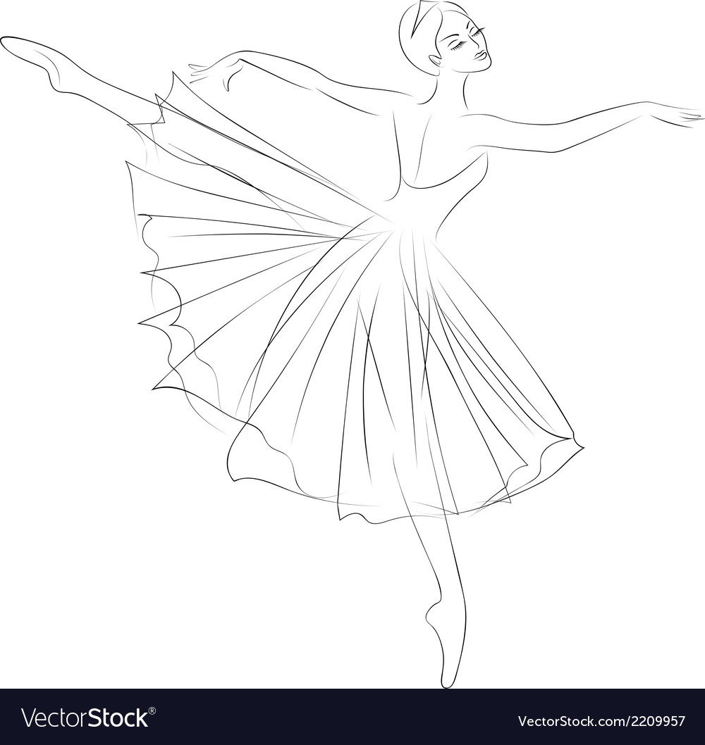 Ballerina vector | Price: 1 Credit (USD $1)