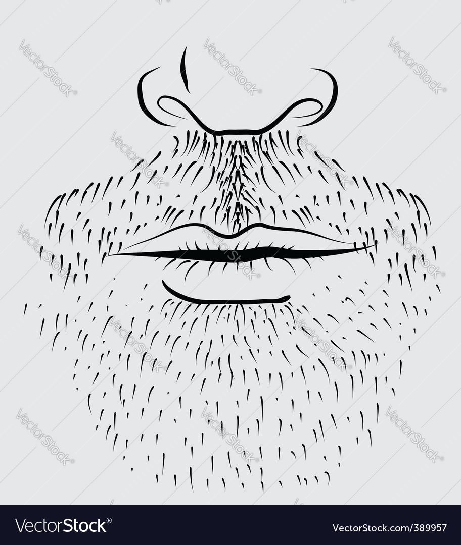 Beard man vector | Price: 1 Credit (USD $1)