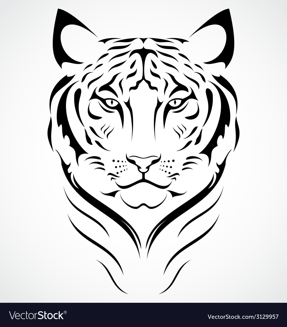 Bengal tiger tattoo design vector | Price: 1 Credit (USD $1)