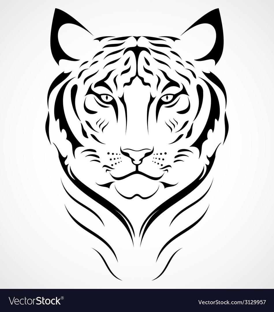 Bengal tiger tattoo design vector | Price: 1 Credit (USD $1)
