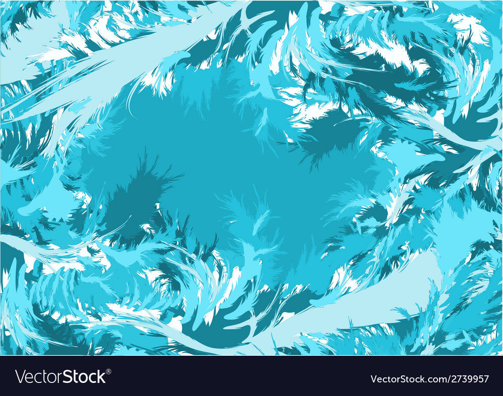 Blue abstract feathers vector | Price: 1 Credit (USD $1)