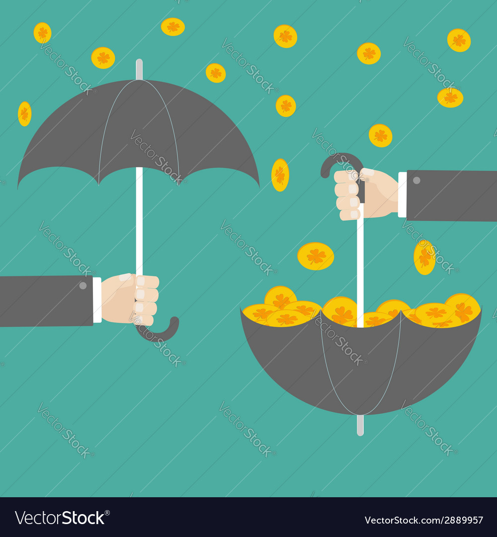 Businessman hand holding umbrella with success vector | Price: 1 Credit (USD $1)