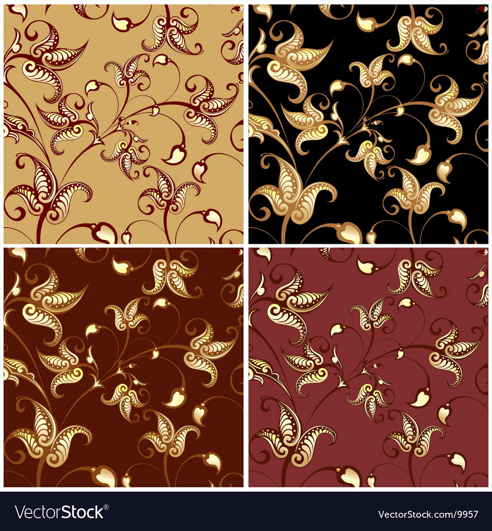 Colorful floral backgrounds vector | Price: 1 Credit (USD $1)