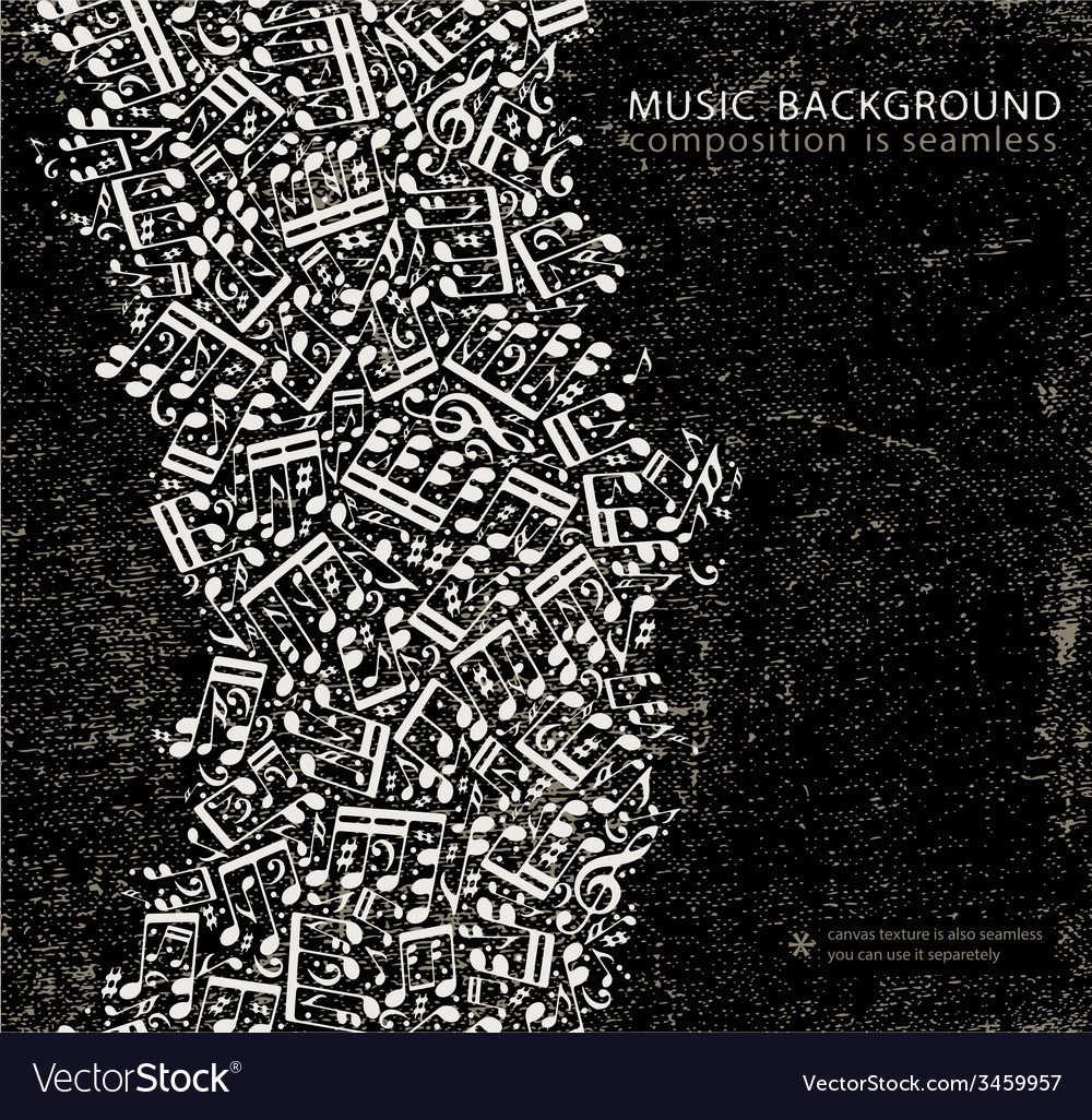 Dark grunge seamless music background canvas vector | Price: 1 Credit (USD $1)
